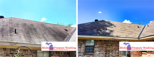 roof washing and cleaning west bloomfield michigan